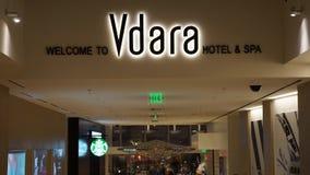 Centro turístico y balneario de Vdara Las Vegas en Nevada imágenes de archivo libres de regalías