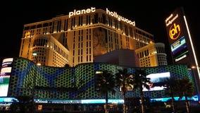 Centro turístico y casino de Hollywood del planeta en Las Vegas, Nevada imagenes de archivo