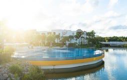 Centro tur?stico y hotel, Punta Cana del heavy fotos de archivo