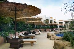 Centro turístico en Egipto Foto de archivo libre de regalías