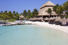 Centro turístico tropical de Xcaret en México Imágenes de archivo libres de regalías