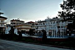 Centro urbano alla Grecia fotografie stock