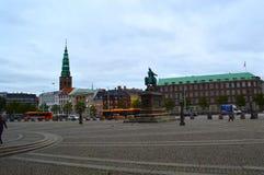 Centro urbano a Copenhaghen Fotografia Stock Libera da Diritti