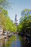 Centro urbano de Amsterdam Fotos de archivo