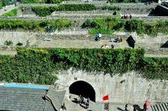 Centro urbano del castello del portone di Zhonghua Fotografia Stock Libera da Diritti