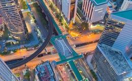 Centro urbano della costruzione di vista aerea Immagini Stock Libere da Diritti