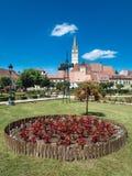 Centro urbano della Romania di mezzi fotografie stock