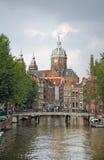 Centro urbano di Amsterdam, Olanda Immagini Stock