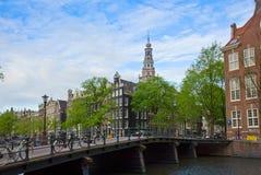 Centro urbano di Amsterdam, Paesi Bassi Fotografie Stock