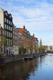 Centro urbano di Amsterdam, Paesi Bassi Fotografia Stock Libera da Diritti