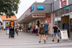 Centro urbano di Arboga fotografia stock libera da diritti
