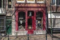 Centro urbano di architettura Negozio della mano di Holland Second immagine stock libera da diritti