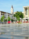 Centro urbano di Bacau Fotografie Stock Libere da Diritti