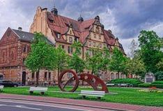 Centro urbano di Bamberga in Franconia superiore Fotografia Stock Libera da Diritti