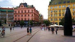 Centro urbano di Brno Immagine Stock Libera da Diritti