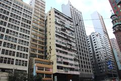 Centro urbano di Hong Kong fotografie stock libere da diritti