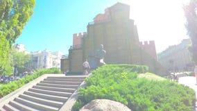Centro urbano di Kiev, Ucraina archivi video