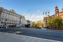 Centro urbano di Leeds, - Yorkshire - Inghilterra ad ovest Regno Unito immagini stock libere da diritti