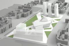 Centro urbano di modello architettonico di Of Downtown Financial illustrazione di stock