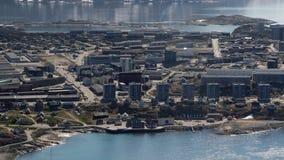 Centro urbano di Nuuk Fotografia Stock Libera da Diritti