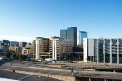 Centro urbano di Oslo, architettura moderna Fotografia Stock