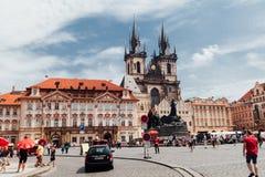 Centro urbano di Praga fotografia stock