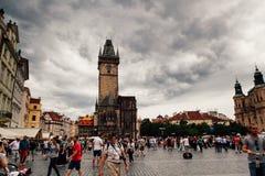 Centro urbano di Praga fotografie stock libere da diritti