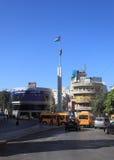 Centro urbano di Ramallah, Yasser Arafat Square immagini stock libere da diritti