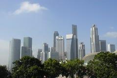 Centro urbano di Singapore Fotografie Stock Libere da Diritti
