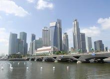 Centro urbano di Singapore Fotografia Stock