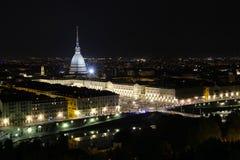 Centro urbano di Torino con la talpa Antonelliana, Torino, Italia, Europa Fotografia Stock