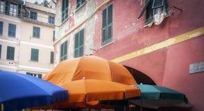 Centro urbano di Vernazza Immagine di colore Immagini Stock