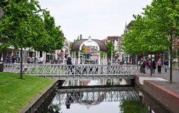 Centro urbano di Zaandam, Zaadam, Paesi Bassi Immagini Stock Libere da Diritti