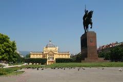 Centro urbano di Zagabria Fotografie Stock Libere da Diritti