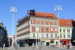 Centro urbano di Zagabria immagini stock