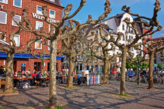 Centro urbano a Dusseldorf in Germania Fotografie Stock