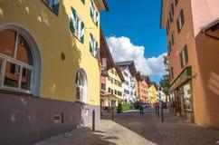 Centro urbano storico di Kitzbuhel, Tirolo, Austria Immagini Stock Libere da Diritti