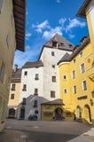 Centro urbano storico di Kitzbuhel, Tirolo, Austria Fotografia Stock
