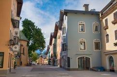 Centro urbano storico di Kitzbuhel, Tirolo, Austria Immagini Stock
