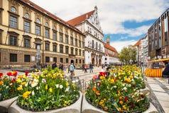 Centro urbano storico di Monaco di Baviera germany Fotografia Stock Libera da Diritti