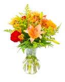 Centro variopinto di disposizione del mazzo del fiore Fotografie Stock Libere da Diritti