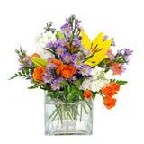 Centro variopinto di disposizione di fiore Fotografia Stock