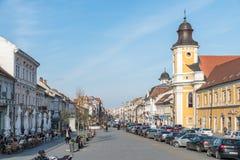 Centro velho da cidade de Cluj Napoca Imagens de Stock Royalty Free