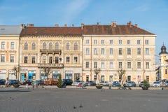 Centro velho da cidade de Cluj Napoca Fotos de Stock Royalty Free