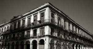 Centro velho das construções fora de havana Foto de Stock Royalty Free