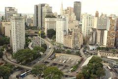 Centro velho de São Paulo fotografia de stock