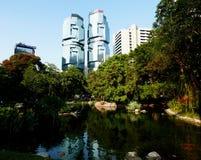 Centro y Hong Kong Park de Lippo fotos de archivo