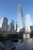 Centro y 9/11 Nueva York conmemorativa, los E.E.U.U. del World Trade Center Fotos de archivo libres de regalías