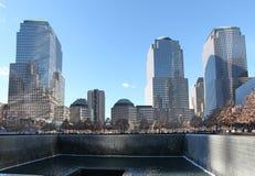 Centro y 9/11 Nueva York conmemorativa, los E.E.U.U. del World Trade Center Imagen de archivo libre de regalías