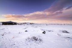 Centro y restaurante del visitante de Gulfoss en Islandia Imagen de archivo libre de regalías